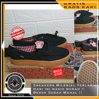 Sepatu Kasual Vans Slip On Zapato Vintage Black Gum Premium Import