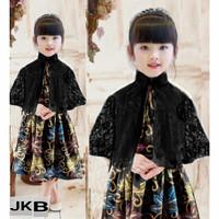 Set 2in1 dress cape batik Queensha Dress anak perempuan baju batik ana