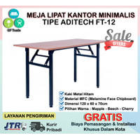 Meja Lipat Kantor / Meja Banquet / Meja Training Modern Aditech FT-12