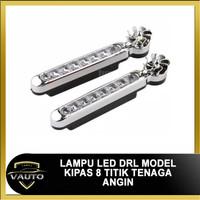 Lampu LED DRL Model Kipas 8 Mata Tenaga Angin 8 Titik