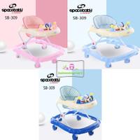 Baby Walker Spacebaby Space Baby SB-309 Murah Meriah Babywalker - Biru