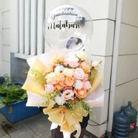 buket bunga flower balon bouquet graduation birthday valentine anniv