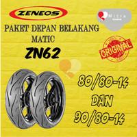 BAN LUAR ZENEOS PAKET MATIC 80-80-14 ZN62 DAN 90-80-14 ZN62 TUBELESS
