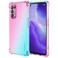 Shock Gradient Case Oppo Reno5 4G - Reno 5 5G - Rainbow Clear Cover