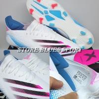 Sepatu Bola - Soccer Adidas X Ghosted.1 White Blue Pink Black - FG