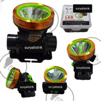 SENTER KEPALA ANTI AIR 30W/ head lamp/ terang/anti air hujan - MS-413, Putih
