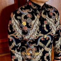 Baju Batik Pria Panjang Bagus PREMIUM Motif Sutra Mewah Tulis Modern