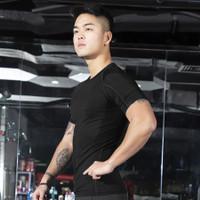 Compression Short Sleeve Shirt Kaos Gym Baselayer Pria Dry Fit