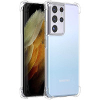 Shock Absorption TPU Case Samsung Galaxy S21 Ultra - Clear Anti Crack