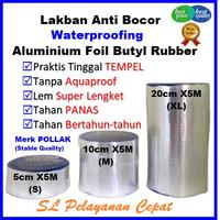 Lakban Tambal Bocor Atap Merek Pollak Bahan Aluminium Foil 5cmX5M