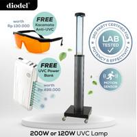 Diodel 200W Lampu UVC/Ozone Steriliser Commercial Grade Robotic Troli - Ozone 200watt