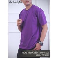 Kaos polos andalas ungu
