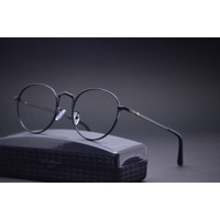 Kacamata Anti radiasi | frame Kacamata minus | Kacamata bulat 5320 - Hitam, frame saja
