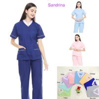 Baju seragam suster/ Baju baby sitter/ Seragam klinik premium