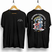 Baju Kaos Distro Samurai Naga Wisdom / Baju Kaos Pria Wanita30s