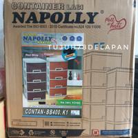 Laci Napolly Contan BB400/Lemari Laci Plastik Napolly 4 Susun