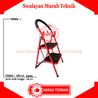 Tangga Rumah besi 2 Step Mollar 2S Household steel Ladder Lipat