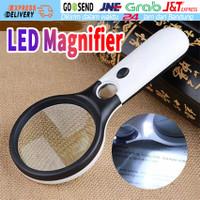 Magnifier Gelas Lampu 3 LED Pembesar 2 Kaca 3X 45X Lup Handheld Zoom