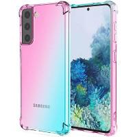Shock Gradient Case Samsung Galaxy S21 6.2 - Rainbow Clear Cover Anti