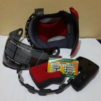 Paket Komplit busa dan kaca Visor helm KYT X Rocket Warna Pelangi