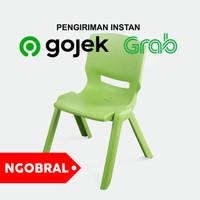 Bangku Plastik / Kursi Sender Belajar Anak Plastik - HIJAU