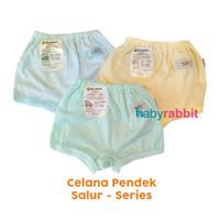 3 PCS Celana Pendek FLUFFY BABY SALUR Size NewBorn/ Celana Pendek Bayi