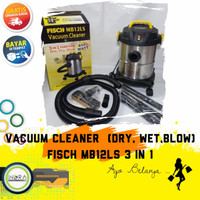 FISCH MB12LS MESIN VACUUM CLEANER LOW WATT 850 WATT 3 IN 1 STAINLESS