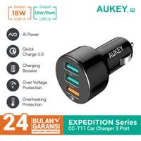 Aukey Car Charger CC-T11 3 Ports 42W QC 3.0 & AiQ - 500126