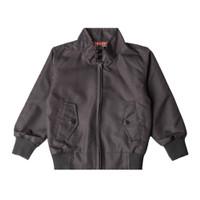 JummaKids Harrington Black Red Jacket Anak
