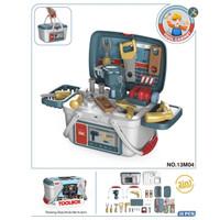 Mainan Alat Tukang 2 in 1 Toolbox Set 26 pcs No.13M04