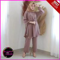 Baju Setelan Muslim Set Kulot Fashion Wanita Cewek Murah Terbaru