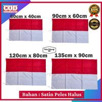Bendera Merah Putih Indonesia Satin Murah 40x60cm   60x90cm   80x120cm - 40cm x 60cm