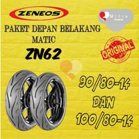 BAN LUAR ZENEOS PAKET MATIC 90-80-14 ZN62 DAN 100-80-14 ZN62 TUBELESS