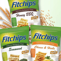 Fitchips snack cemilan sehat diet / seaweed / honey bbq