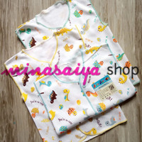 AIRIN 3 pcs Baju Bayi Lengan Buntung / Kutung Kancing Depan New Born