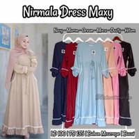 Nirmala Dress Maxi / Baju Muslim Gamis cantik Ibu Busui Bumil Termurah