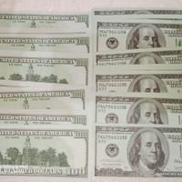 mainan uang dollar palsu isi 20pcs