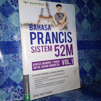 bahasa Perancis sistem 52 m vol 1+CD. buku original