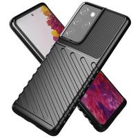 Armor Line TPU Case Samsung Galaxy S21 Ultra - Casing Black Soft Cover