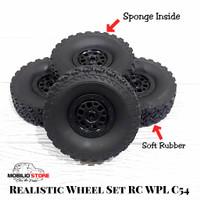 Ban WPL C54 Full Set Wheel Tire RC Mini Adventure Offroad