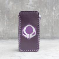 Plum Leather Case Sleeve Hexohm V3 Cut Logo Kulit Asli