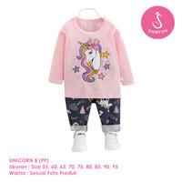 Setelan Baju Tidur Anak Perempuan Import Panjang Unicorn B Shirton