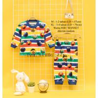 Baju tidur anak setelan anak panjang piyama anak murah umur 1-4 tahun