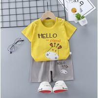 Setelan Baju Kaos Anak Murah Katun Laki-laki/Perempuan 1 2 3 4 5 tahun
