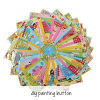 DIY PAINTING BUTTON/ Button sticker art n craft/ diy kancing/Edukasi - BOY