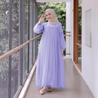 Shanum Dress l Lebaran Maxy Tutu Terusan Fashion Muslim Terlaris - Dusty