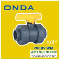 STOP KRAN WATER MUR ONDA PVCBV WM 1/2 inch PVC Ball Valve Watermoor