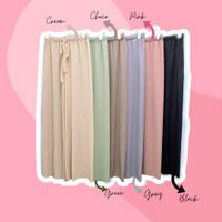 Celana Kulot Panjang Import Rajut Plisket Halus Premium Elastis PROMO