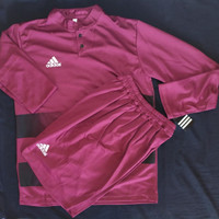 Setelan Baju Bola Futsal Panjang Adidas Merah