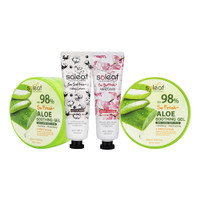 [BIG SALE 4pcs] 2pcs Aloe Vera Soothing Gel+HC Cherry Blossom+HC Cotto